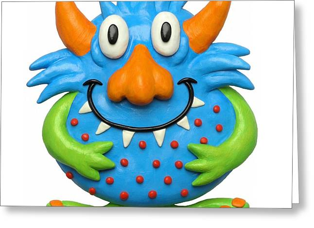 Recently Sold -  - Whimsical. Greeting Cards - Sweet Spotted Monster Greeting Card by Amy Vangsgard