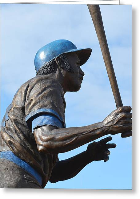 Rookie Of The Year Greeting Cards - Sweet Swinging Billy Williams 2 Greeting Card by Richard Andrews