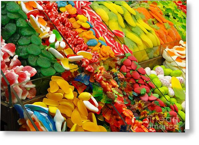 Gummi Candy Greeting Cards - Sweet Tooth Greeting Card by Sue Melvin