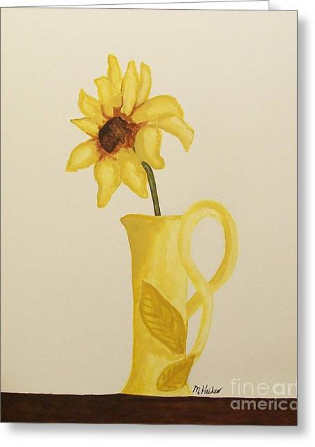 Hand Made Greeting Cards - Sweetest Sunflower Greeting Card by Marsha Heiken