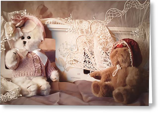 Baby Room Greeting Cards - Sweetheart Teddies Greeting Card by Camille Lopez