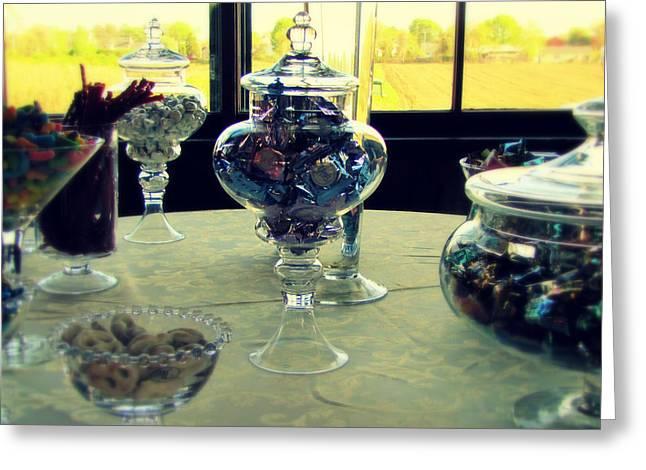 Gummi Candy Greeting Cards - Sweets for my Sweet Greeting Card by Lisa Jayne Konopka