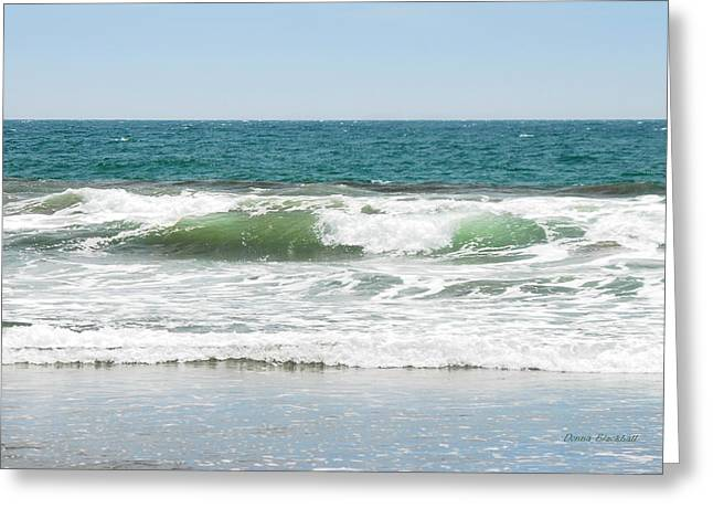 Incoming Tide Greeting Cards - Swell Greeting Card by Donna Blackhall