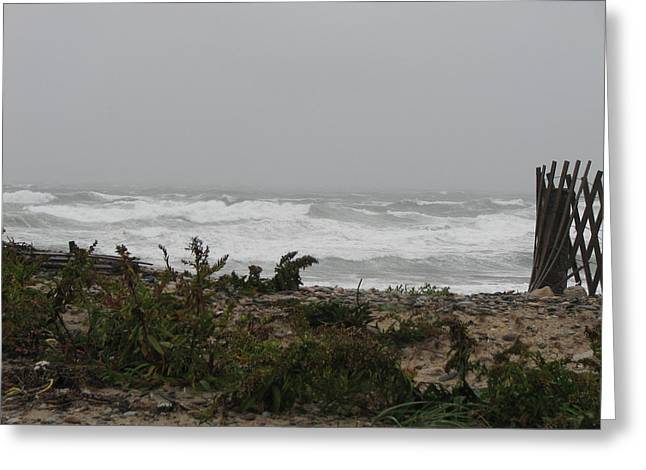 Best Sellers -  - Storm Clouds Cape Cod Greeting Cards - Swell Photo Greeting Card by Brian Mazzoli