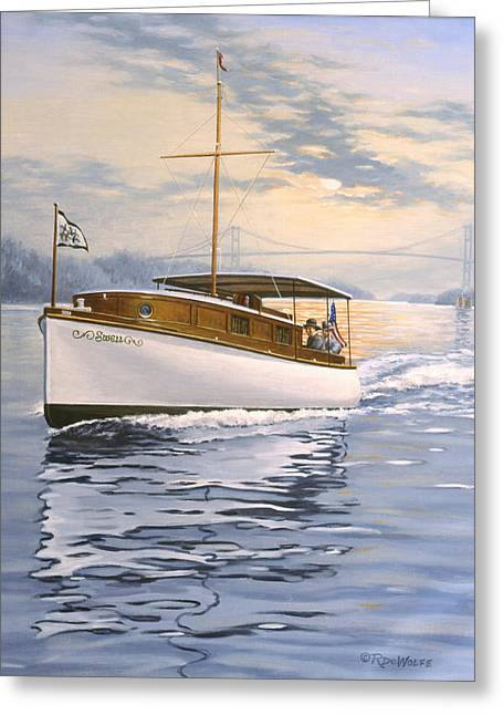 Swell Greeting Card by Richard De Wolfe