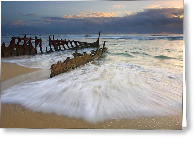The Help Greeting Cards - Swept Ashore Greeting Card by Mike  Dawson