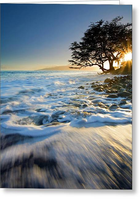Lahaina Photographs Greeting Cards - Swept out to Sea Greeting Card by Mike  Dawson