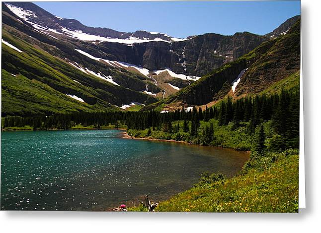 Scenic Greeting Cards - Swift current lake Greeting Card by Jeff  Swan