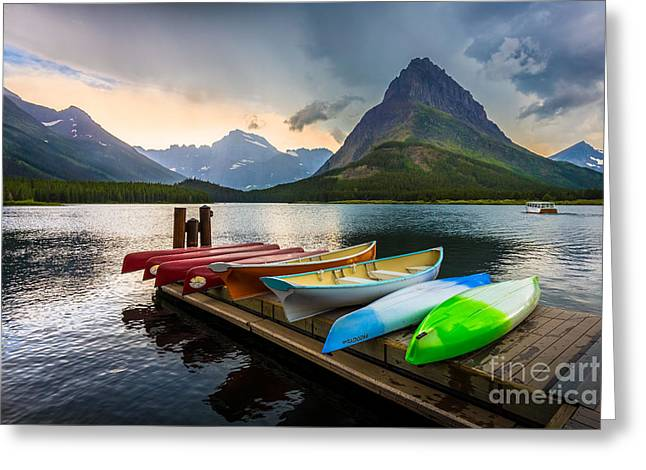 Swiftcurrent Canoes Greeting Card by Inge Johnsson