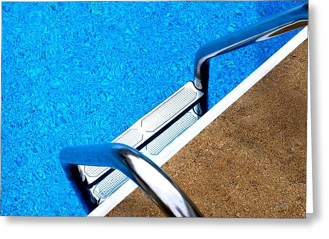 Swim Ladder Greeting Cards - Swim Greeting Card by Mary Beth Landis