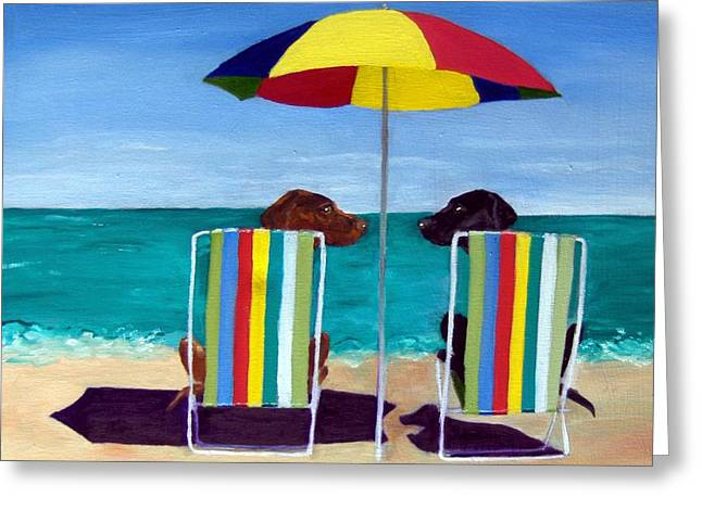 Umbrella Greeting Cards - Swim Greeting Card by Roger Wedegis