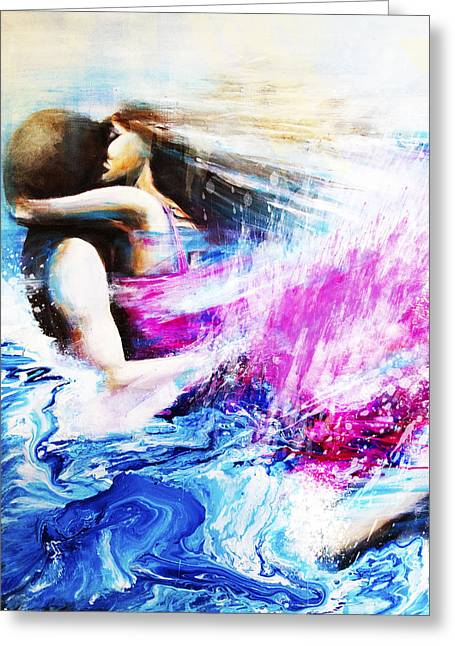 Bayliss Greeting Cards - Swimming Greeting Card by Catherine Bayliss