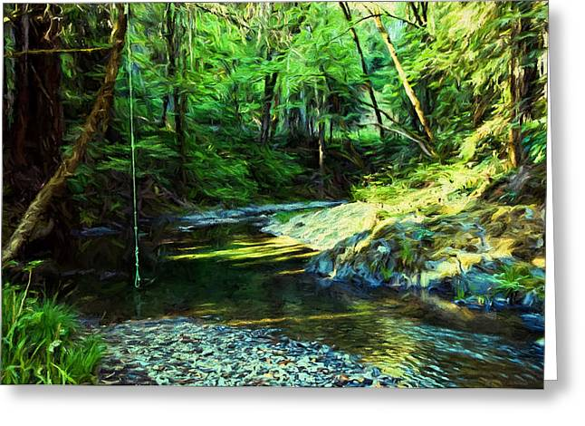 Sonoma County Digital Greeting Cards - Swimming Hole on Mill Creek Greeting Card by John K Woodruff