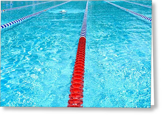Community Greeting Cards - Swimming Pool Lap Lanes Greeting Card by Amy Cicconi
