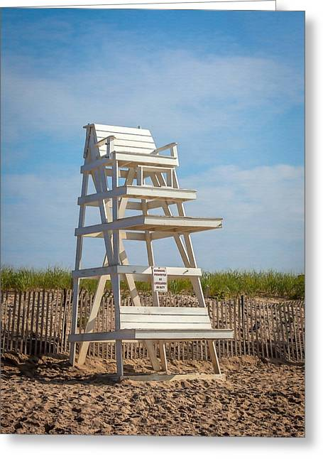 Sand Fences Greeting Cards - Swimming Prohibited Greeting Card by Art Block Collections