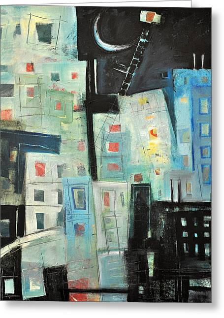 Antenna Mixed Media Greeting Cards - Swing Shift Greeting Card by Tim Nyberg