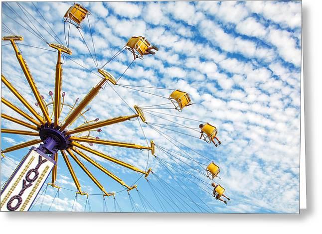 Swings On High Greeting Card by Todd Klassy