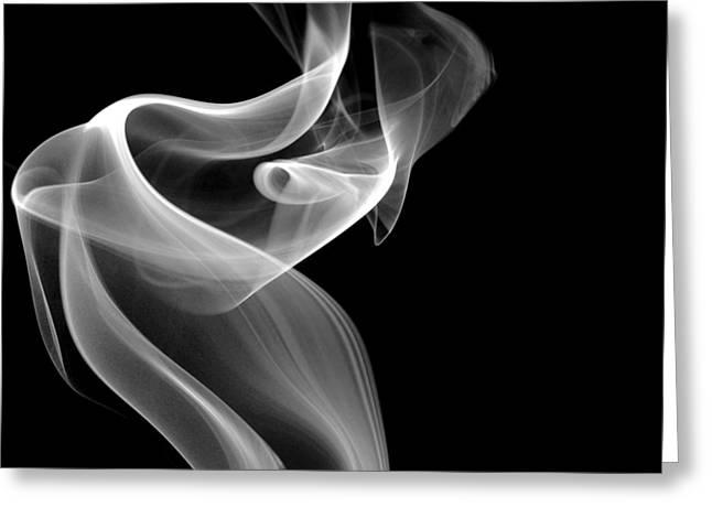 Smoke Art Greeting Cards - Swirl Greeting Card by Bryan Steffy