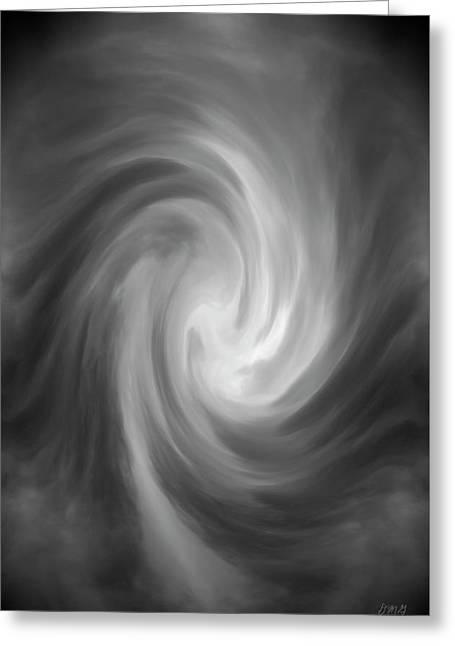 Swirl Wave Iv Greeting Card by David Gordon