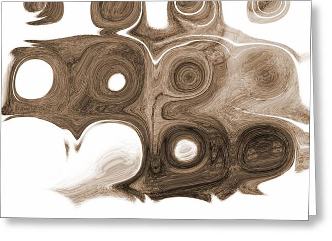 Customizable Greeting Cards - Swirl With Love Greeting Card by Jackie Bodnar