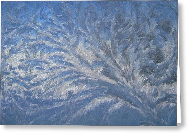 Swirls Of Ice Greeting Card by Rhonda Barrett
