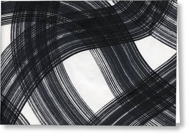 Swirls Pattern Greeting Card by Edward Fielding