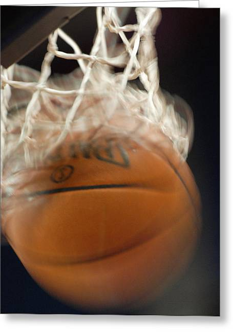 Basketballs Greeting Cards - Swish Greeting Card by Shane Kelly
