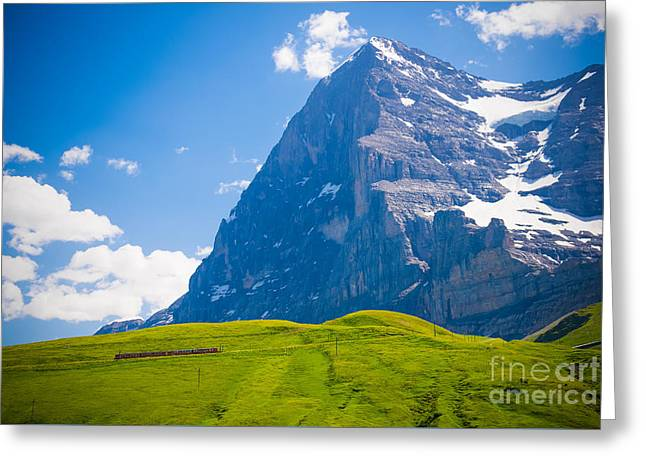 Swiss Photographs Greeting Cards - Swiss Express Greeting Card by Anna Serebryanik