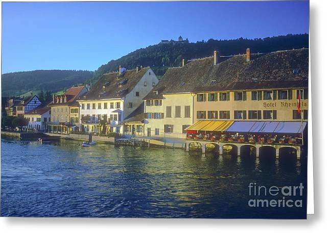 Stein Greeting Cards - Swiss Village on the Rhein Greeting Card by Bob Phillips