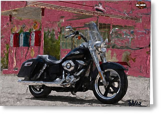 Motorcycles Greeting Cards - Switchback Greeting Card by Wayne Bonney