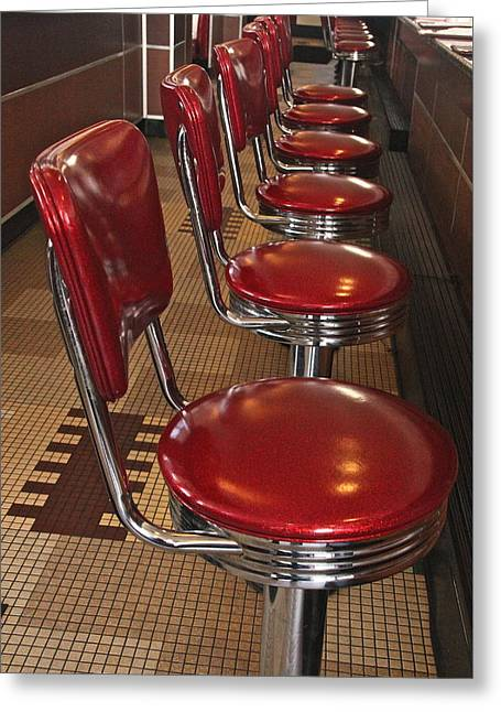 Sit-ins Greeting Cards - Swivel Stools Greeting Card by Denise Mazzocco