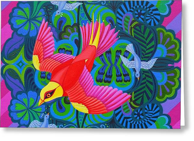 Swooping Greeting Cards - Swooping Bird Greeting Card by Jane Tattersfield