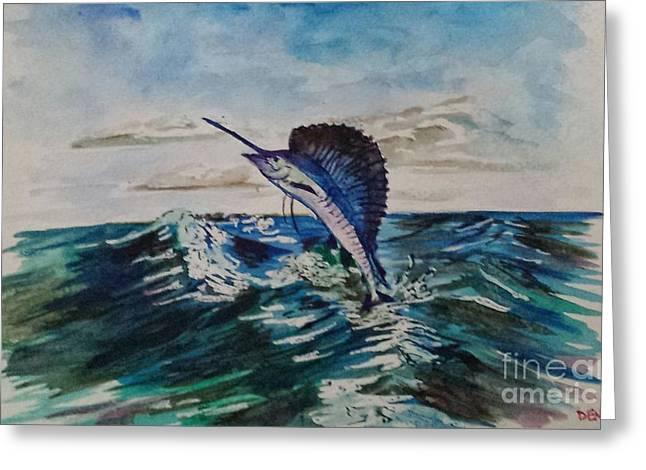 Swordfish Greeting Cards - Swordfish Greeting Card by Alex Denka