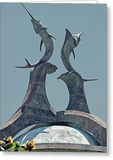 Swordfish Digital Art Greeting Cards - Swordfish Sculpture Greeting Card by DigiArt Diaries by Vicky B Fuller