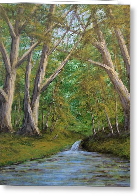 Tree. Sycamore Greeting Cards - Sycamores by the River Greeting Card by Matthew Hannum