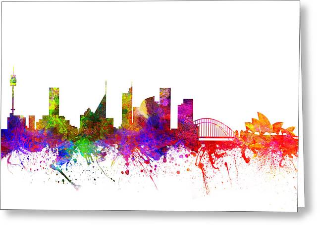 Sydney Australia Cityscape 02 Greeting Card by Aged Pixel