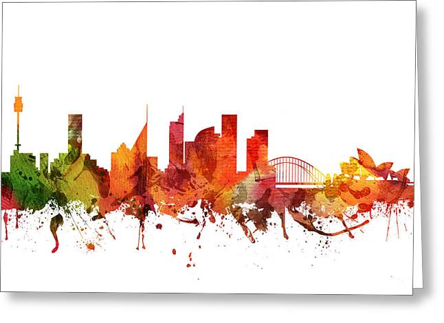 Sydney Cityscape 04 Greeting Card by Aged Pixel
