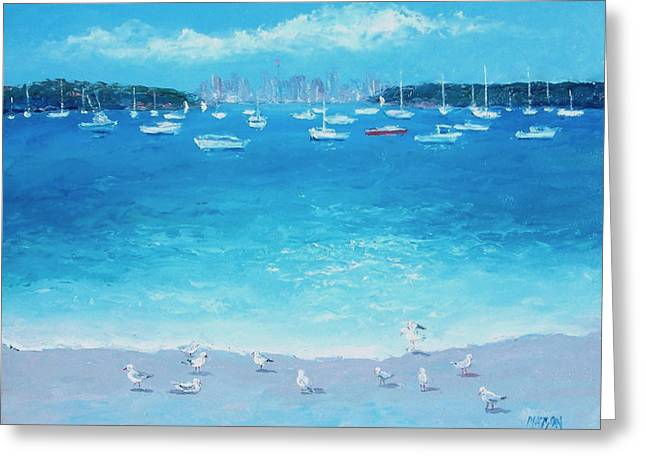 Sydney Harbour Greeting Cards - Sydney from Watsons Bay Greeting Card by Jan Matson