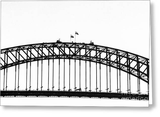 Famous Bridge Greeting Cards - Sydney Harbour And Opera House-blue Mountains Greeting Card by Nicholas  Allaniaris