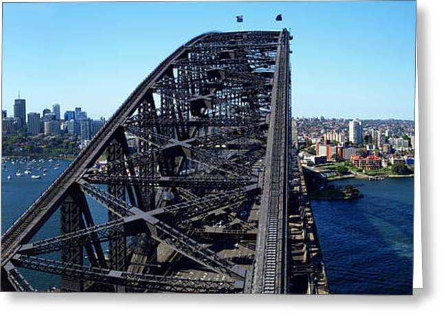 Horizontal Digital Art Greeting Cards - Sydney Harbour Bridge Greeting Card by Melanie Viola
