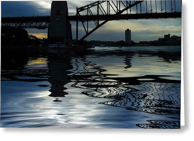 Sydney Harbour Bridge reflection Greeting Card by Sheila Smart