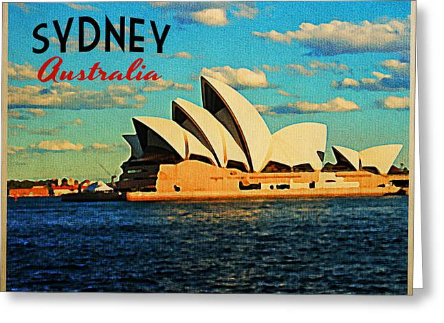 Wales Posters Greeting Cards - Sydney Opera House Australia Greeting Card by Flo Karp
