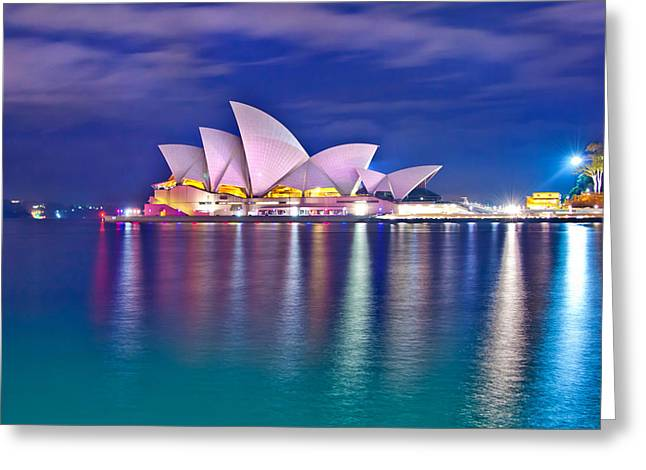 Unique Image Greeting Cards - Sydney Opera House Pre Dawn Greeting Card by Az Jackson