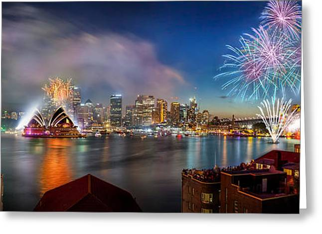 Sydney Sparkles Greeting Card by Az Jackson