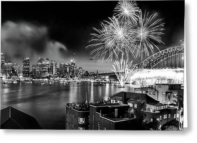 Sydney Spectacular Greeting Card by Az Jackson