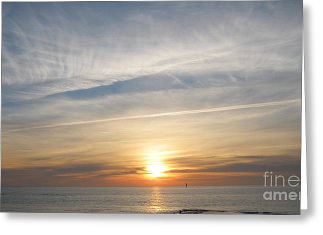 Affirmation Greeting Cards - Sylt sunset 4 Greeting Card by Heidi Sieber