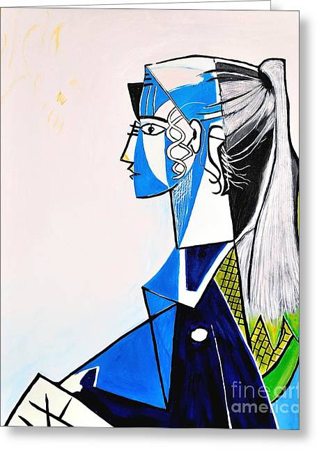 Sylvette - Tribute To Pablo Picasso Greeting Card by Art by Danielle