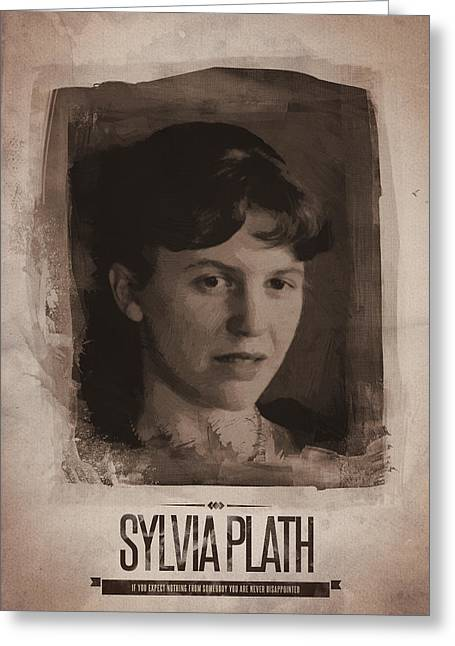 Sylvia Plath Greeting Card by Afterdarkness