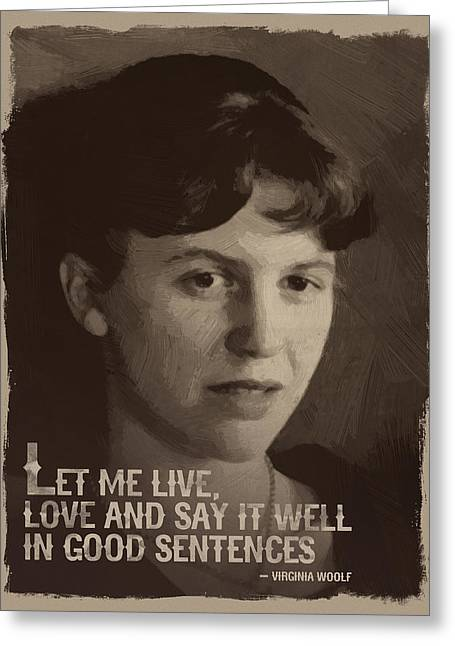 Sylvia Plath Quote Greeting Card by Afterdarkness
