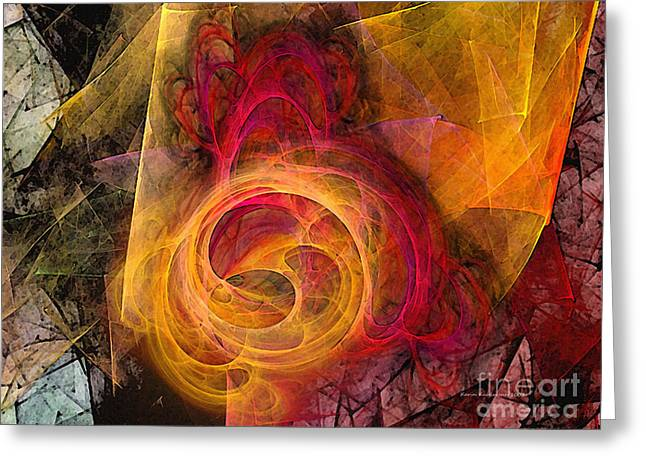 Symbiosis Abstract Art Greeting Card by Karin Kuhlmann